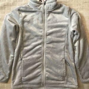 32 Degrees Heat Girl's Luxe Fur Zip Jacket Silver